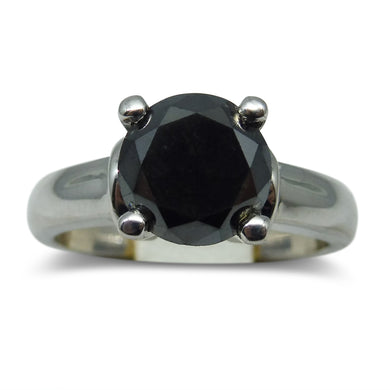 2.25 ct. Black Diamond Ring in Sterling Silver