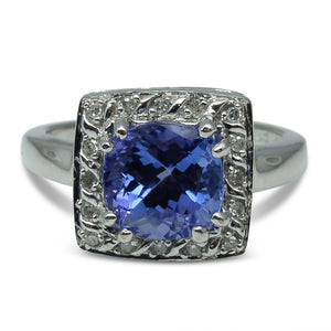 3.05 cts. Tanzanite Ring in 10kt White Gold - Skyjems Wholesale Gemstones