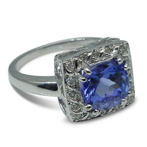 3.05 cts. Tanzanite Ring in 10kt White Gold