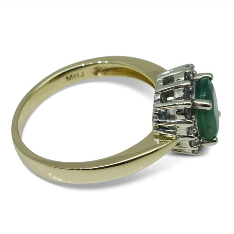 Emerald Ring in 10kt Yellow/White Gold GS Laboratories Certified