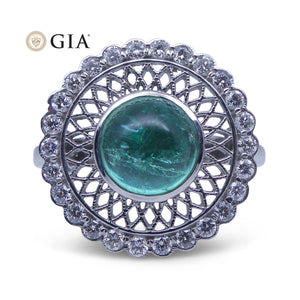 1.91 ct Emerald IGI Certified 18kt Gold Diamond Ring - Skyjems Wholesale Gemstones