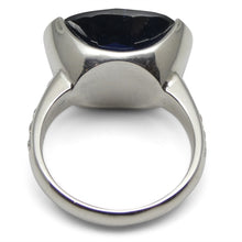12.21ct IGI Certified Unheated Blue Sapphire & Diamond Ring in 18kt White Gold