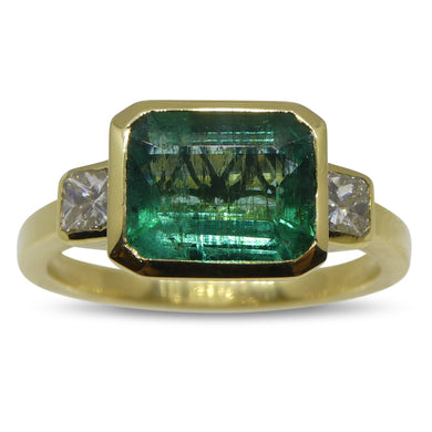 2.62ct Emerald & Diamond Ring in 18kt Yellow Gold
