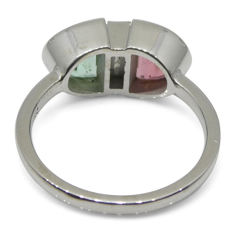Tourmaline & Diamond Ring in 14kt White Gold