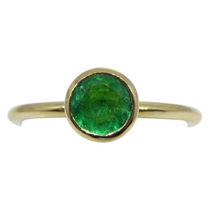 Emerald Stacker Ring set in 14kt Yellow Gold
