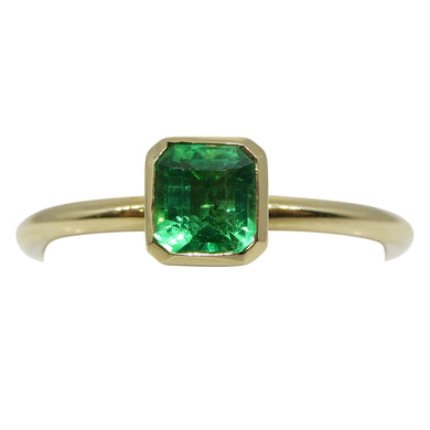 Emerald Stacker Ring set in 14kt Yellow Gold - Skyjems Wholesale Gemstones