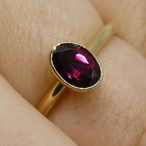 Ruby Stacker Ring set in 14kt Yellow Gold