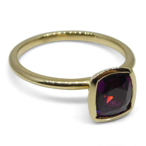Rhodolite Garnet Stacker Ring set in 14kt Yellow Gold