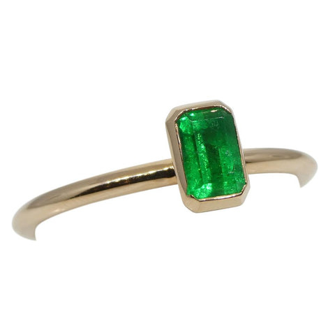 Emerald Stacker Ring set in 14kt Pink/Rose Gold