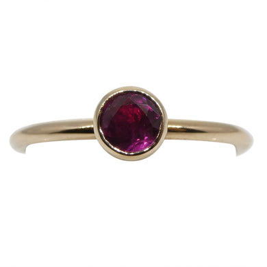 Ruby Stacker Ring set in 14kt Pink/Rose Gold - Skyjems Wholesale Gemstones