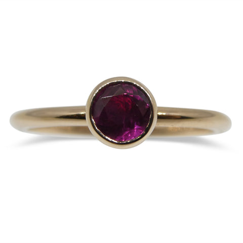 Ruby Stacker Ring set in 14kt Pink/Rose Gold