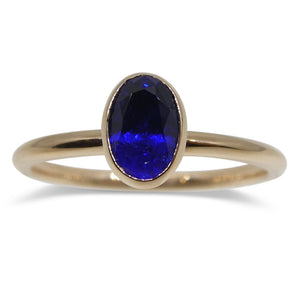 Sapphire Stacker Ring set in 14kt Pink/Rose Gold - Skyjems Wholesale Gemstones