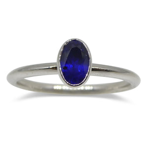 Sapphire Stacker Ring set in 14kt White Gold - Skyjems Wholesale Gemstones
