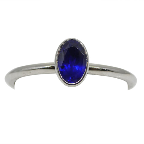 Sapphire Stacker Ring set in 14kt White Gold