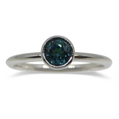 Blue Indicolite Tourmaline Stacker Ring set in 14kt White Gold - Skyjems Wholesale Gemstones