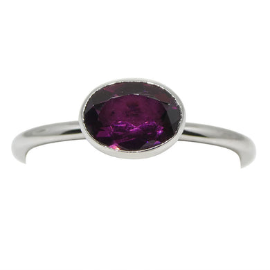Stacker Ring 0.9 cts 6.94x4.99mm Oval Reddish Purple  $280