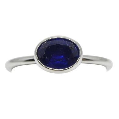 Sapphire Stacker Ring set in 10kt White Gold - Skyjems Wholesale Gemstones