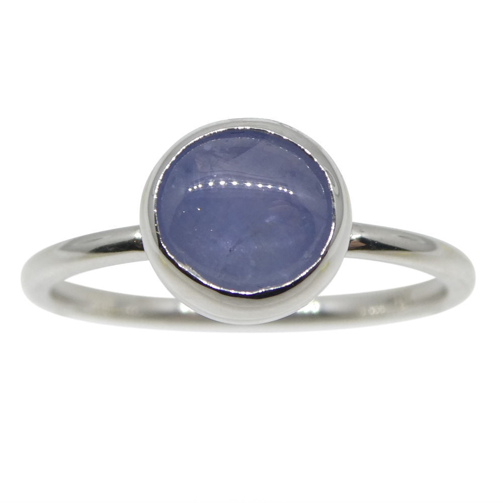 Star Sapphire Stacker Ring set in 10kt White Gold