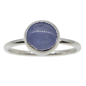 Star Sapphire Stacker Ring set in 10kt White Gold - Skyjems Wholesale Gemstones