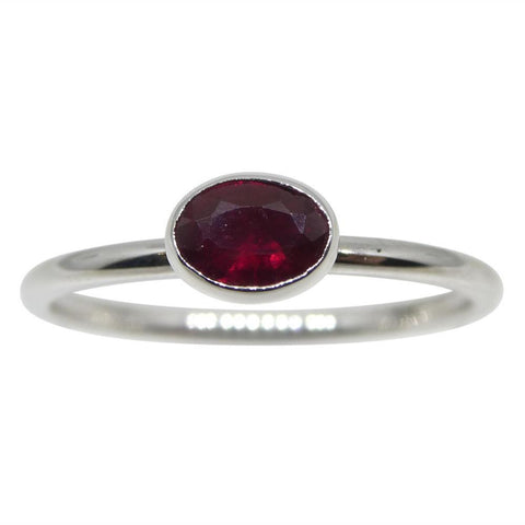 The Annie, Three Stacking Ring Set Emerald, Ruby, Indicolite Tourmaline in 10kt Yellow, White and Pink/Rose Gold