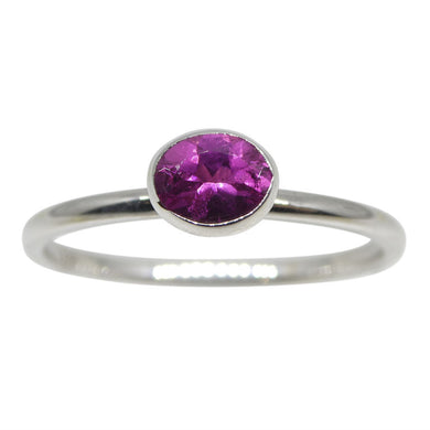 Pink Tourmaline Stacker Ring set in 10kt White Gold - Skyjems Wholesale Gemstones