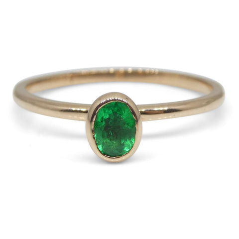 The Mindy, Four Ring Stacking Ring Set: Emerald, Sapphire, Tourmaline in 10kt Yellow, White and Pink/Rose Gold