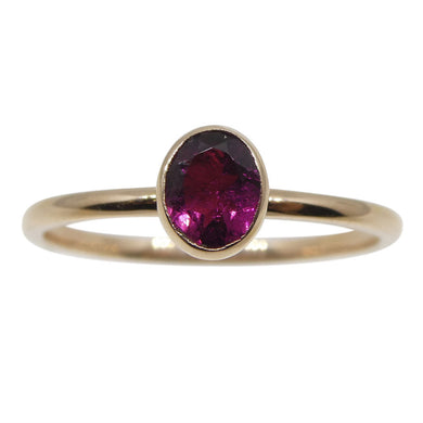 Pink Tourmaline Stacker Ring set in 10kt Pink/Rose Gold - Skyjems Wholesale Gemstones