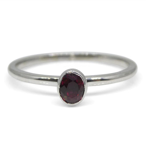Ruby Stacker Ring set in 10kt White Gold