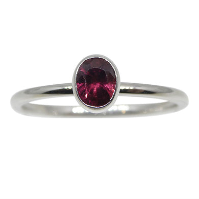 Ruby Stacker Ring set in 10kt White Gold - Skyjems Wholesale Gemstones
