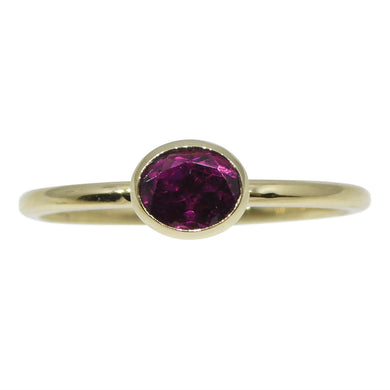 Tourmaline Stacker Ring set in 10kt Yellow Gold - Skyjems Wholesale Gemstones