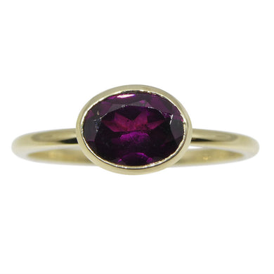 Garnet Stacker Ring set in 10kt Yellow Gold - Skyjems Wholesale Gemstones