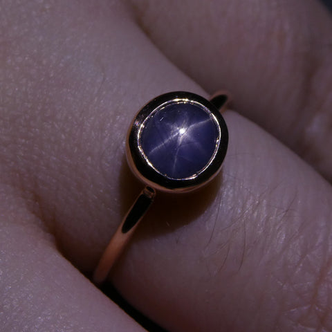 Star Sapphire Stacker Ring set in 10kt Pink/Rose Gold