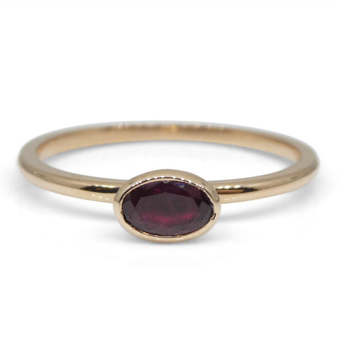 Ruby Stacker Ring set in 10kt Pink/Rose Gold
