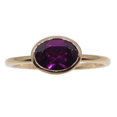 Rhodolite Garnet Stacker Ring set in 10kt Pink/Rose Gold - Skyjems Wholesale Gemstones