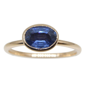 Sapphire Stacker Ring set in 10kt Pink/Rose Gold - Skyjems Wholesale Gemstones