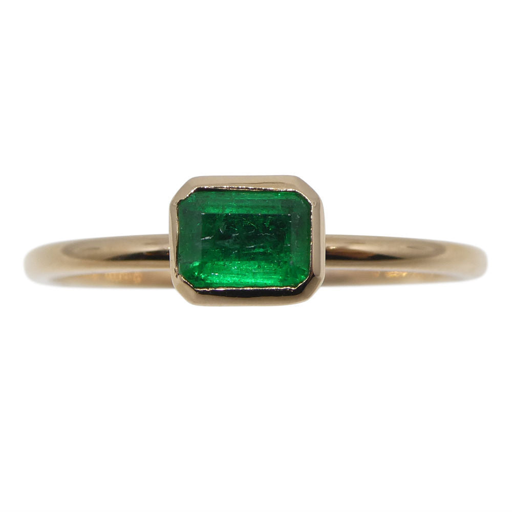 Emerald Stacker Ring set in 10kt Pink/Rose Gold