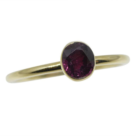 Ruby Stacker Ring set in 10kt Yellow Gold