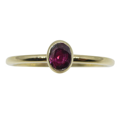 Ruby Stacker Ring set in 10kt Yellow Gold - Skyjems Wholesale Gemstones