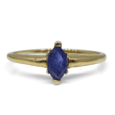 0.30 ct Marquise Sapphire Ring  10kt Yellow Gold - Skyjems Wholesale Gemstones