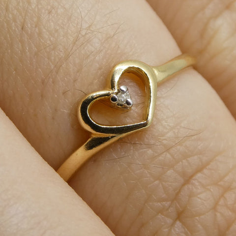 0.02 ct Round Diamond Ring 10kt Yellow Gold