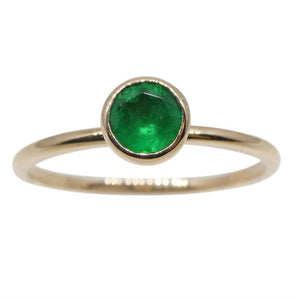 Emerald Stacker Ring set in 10kt Pink/Rose Gold - Skyjems Wholesale Gemstones