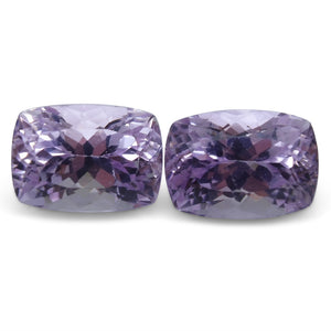 18.28 ct Pair Cushion Kunzite - Skyjems Wholesale Gemstones