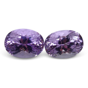 17.04 ct Pair Oval Kunzite - Skyjems Wholesale Gemstones