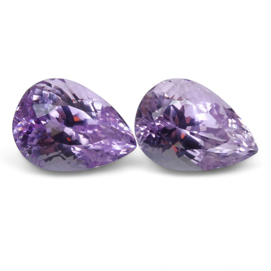 23.42 ct Pair Pear Kunzite - Skyjems Wholesale Gemstones