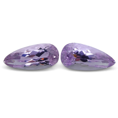 27.54 ct Pair Pear Kunzite - Skyjems Wholesale Gemstones