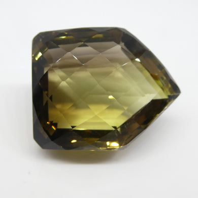Phantom Lemon Citrine 122.07cts 34.07x27.31x20.15mm Fancy Cut brownish Yellow $130