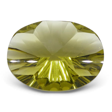 9.79ct Oval Lemon Citrine Fantasy/Fancy Cut - Skyjems Wholesale Gemstones