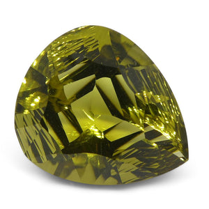 14.75ct Pear Lemon Citrine Fantasy/Fancy Cut - Skyjems Wholesale Gemstones