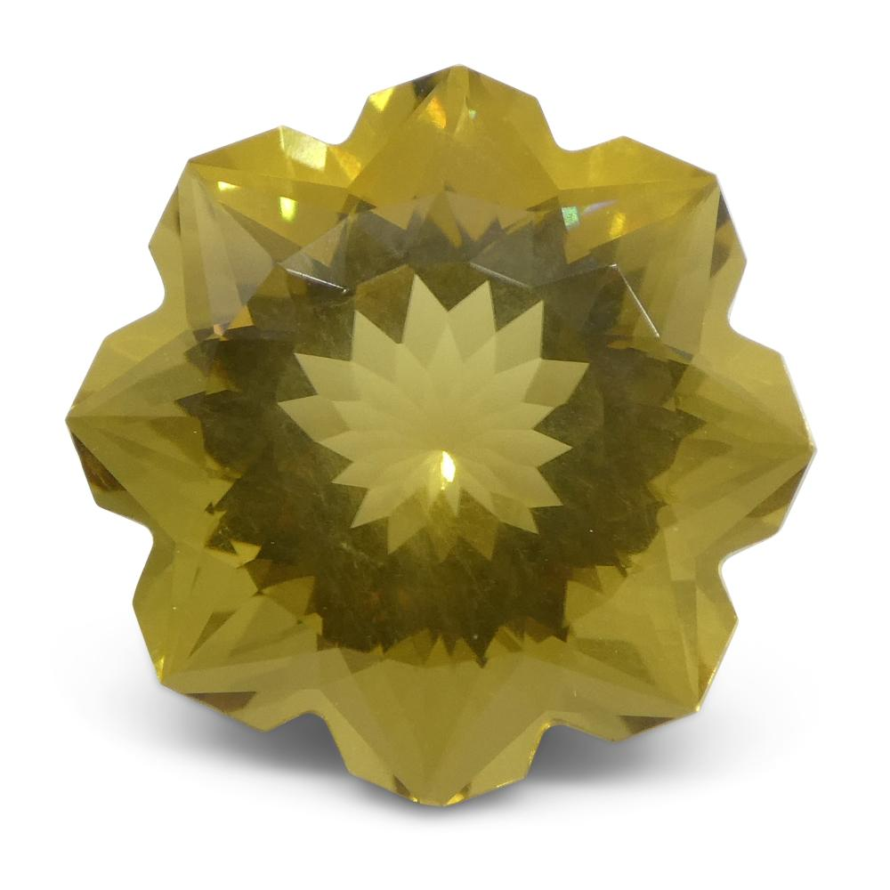 6.24ct Flower Lemon Citrine Fantasy/Fancy Cut