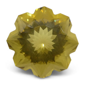 6.24ct Flower Lemon Citrine Fantasy/Fancy Cut - Skyjems Wholesale Gemstones